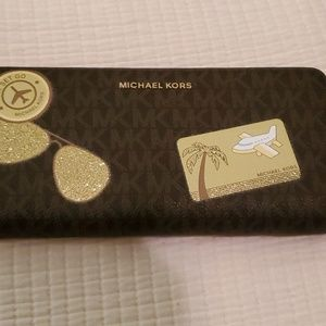 Michael Kors Fly Away Continental Travel Wristlet